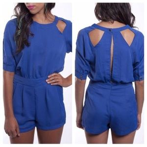 Other - Blue Cut-Out Romper